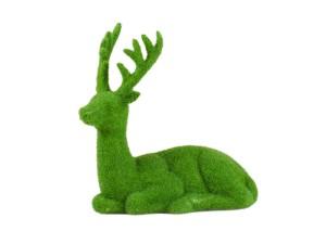 18011075 Reindeer grass green resting 16cm