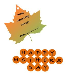 Mothers day Cake Topper and Tag